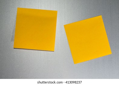 Note  paper on metallic background