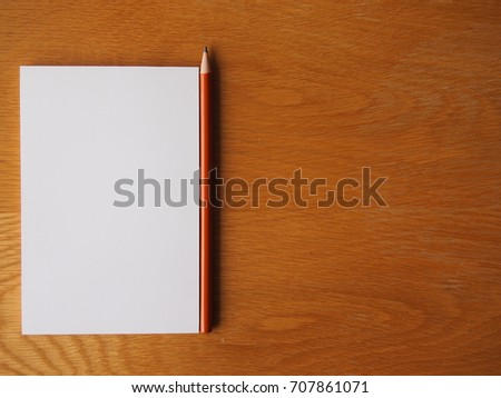 note paper pencil on talbe stock photo edit now 707861071
