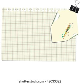 note with paperclip