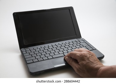 Note PC with Hands of Japanese People