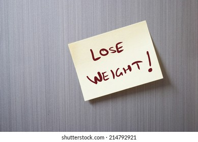 a note saying  Lose weight