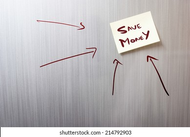 a note saying save money