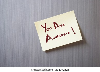 a note saying you are awesome