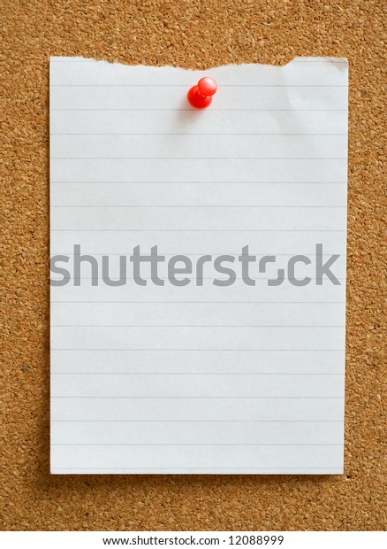 Note with thumbtack.