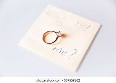 Note will you marry me with wedding ring