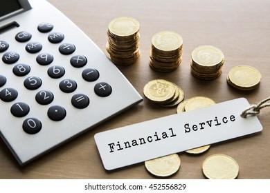 Note written: Financial Service, financial concept