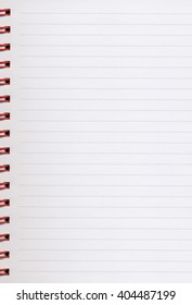 Notebook blank note pad page useful as background