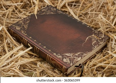 Notebook. The book on hay. Bible. Koran. Word God's. Reference book. For reading. Diary. Interior. background