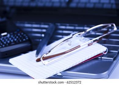 Notebook, business concept