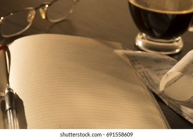 notebook and calculations