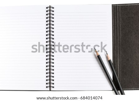 notebook clean blank white paper lines stock photo edit now