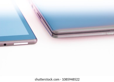 notebook and digital tablet