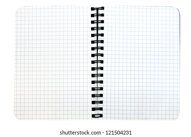 Notebook with empty pages - isolated on white