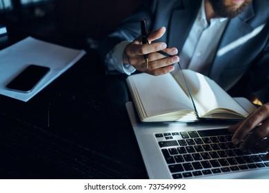 notebook, keyboard, business