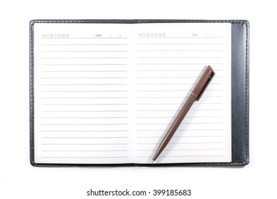 Notebook with lines isolated on white background