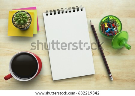 Top office table cup Coffee Notebook On Office Table With Cup Of Coffee Plant Stationery And Office Supplies Blank Notepad Paper For Input Copy Or Text Top View Desk Flat Lay Shutterstock Notebook On Office Table Cup Coffee Stock Photo edit Now 632219342