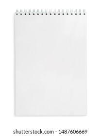 Notebook on white background, isolated