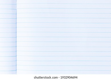 Notebook page with line paper texture for background
