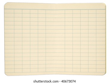 Notebook Pages with Gridded Lines