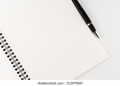 notebook paper with ink pen. education.business stuff