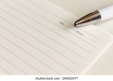 notebook paper with pen background