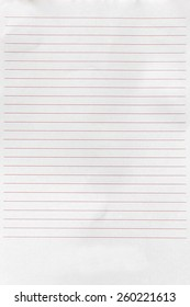 Notebook paper with red-line