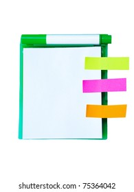 Notebook with post-it