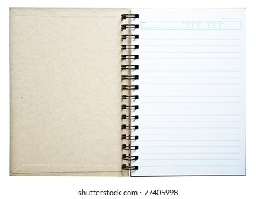 Notebook for the record.