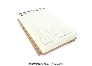 notebook right page on white background.