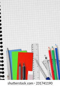Notebook and supplies