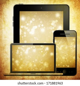Notebook, tablet pc and mobile phone