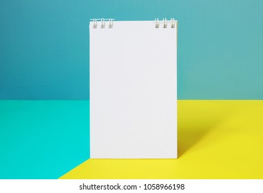 Notebooks on background with copy space.