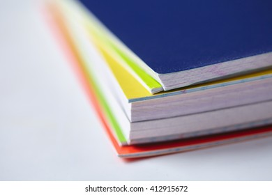 notebooks on the table