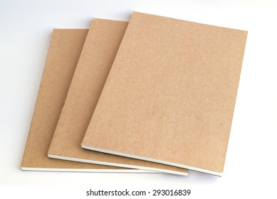 notebooks on white background