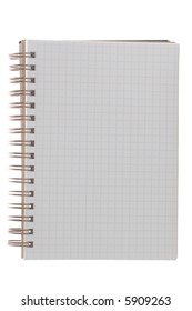 Notepad isolated on a white