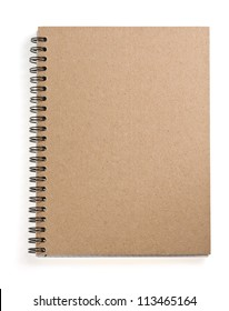 notepad isolated on white background