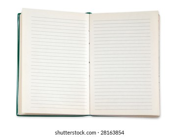 notepad isolated on white background with clipping path