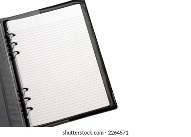 notepad on white background