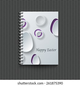 Notepad template with Easter background.