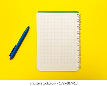 Notepad for writing on a yellow background