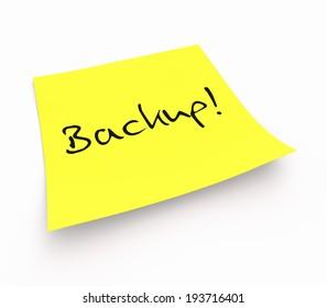 notepaper concept - Backup!