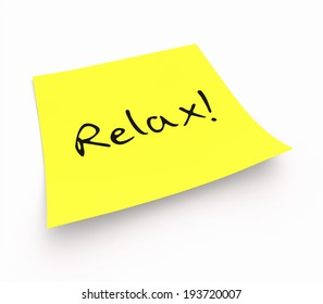 notepaper concept - Relax!