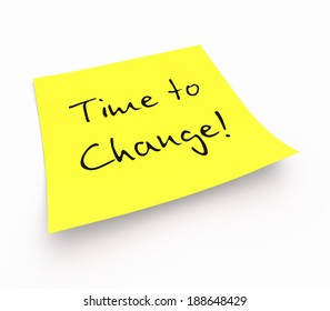 notepaper concept - time to change
