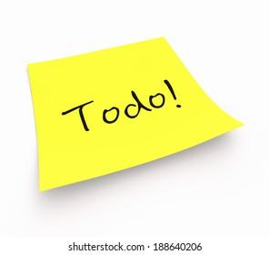 notepaper concept - Todo!