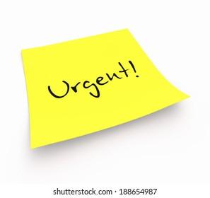 notepaper concept - Urgent!