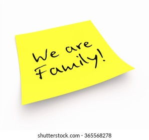 notepaper concept - We are Family