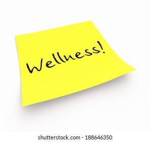 notepaper concept - Wellness