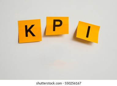 notepaper with text KPI ,Key Performance indicator