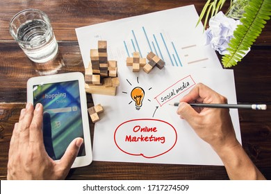 Notes About Digital Marketing.Handwriting of Content Marketing word in notebook