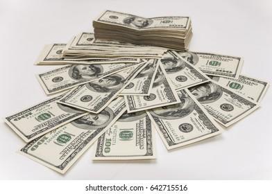 Notes, dollars, money.